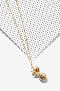 Livin' is Easy Pineapple Necklace - Accessories | Necklaces