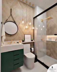 Banheiro com porcelanato amadeirado Washroom Design, Toilet Design, Bathroom Design Luxury, Bathroom Design Small, Bathroom Layout, Bathroom Colors, Guest Bathroom Remodel, Bathroom Renovations, Bad Inspiration