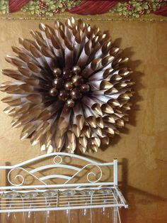 My DIY Gold Paper Wreath