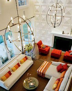 2-story living room by ellen hamilton of hamilton design associates