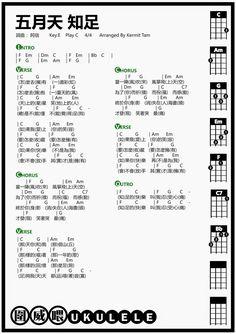 圍威喂 ukulele: 五月天 知足 [ukulele譜]