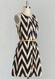 Great Wavelengths Dress in Black | Mod Retro Vintage Dresses | ModCloth.com