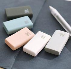 4B Pencil Erasers Cute Stationery School Supplies