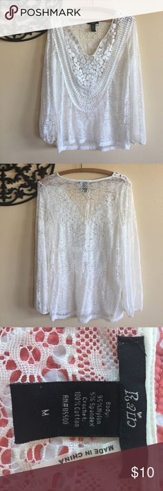 Rain Bohemian Style Sheer Blouse Rain Bohemian Style Sheer Blouse Size Medium, Color Off White. Never Used and in Excellent Condition. Rain Tops Blouses