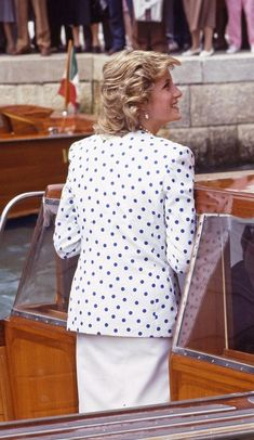 May 4, 1985: Princess Diana in Venice, Italy during the Royal Tour. Day 16