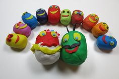 Funny Play Doh Surprise Eggs Family with Cute Faces