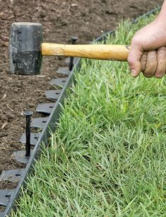 Rain and snow are going to play a huge part in your yard landscaping decisions. For example you will have to plan for your yard landscaping with care. Landscape Fabric, Garden Landscape Design, Landscape Plans, Brick Landscape Edging, Driveway Edging, Yard Edging, Metal Garden Edging, Driveway Ideas, Garden Borders
