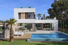 Twelve by Jaime Salvá Pool House Plans, Modern House Plans, Casas Magnolia, Greece House, Mediterranean Homes Exterior, Small Villa, Modern Villa Design, Home Building Design, Villa Plan