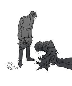 darthmaddiesartblog:  beat him down, Hux.