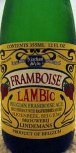 Lindemans Framboise is a Lambic - Fruit style beer brewed by Brouwerij Lindemans in Vlezenbeek, Belgium. 87 out of 100 with 2437 ratings, reviews and opinions.