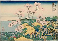 Title:冨嶽三十六景 東海道品川御殿山ノ不二 Fuji from Goten-yama, at Shinagawa on the Tôkaidô (Tôkaidô Shinagawa Goten-yama no Fuji), from the series Thirty-six Views of Mount Fuji (Fugaku sanjûrokkei) Artist:葛飾北斎 Katsushika Hokusai
