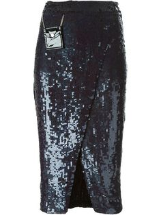 Filles a Papa Sequin Skirt With Small Leather Pockets Black Sequin Skirt, Black Leather Skirts, Black Sequins, Sequin Dress, Denim Pencil Skirt, High Waisted Pencil Skirt, Waist Skirt, Dress Up Day, Black Knees