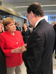 Merkel - Rajoy (NATO meeting)