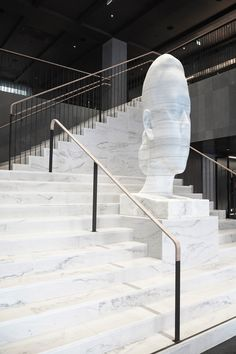 Hotel At Six, luxury design hotel in Stockholm lobby White Staircase, Marble Staircase, Interior Staircase, Grand Staircase, Staircase Design, Lobby Design, Design Hotel, Stair Railing, Railings
