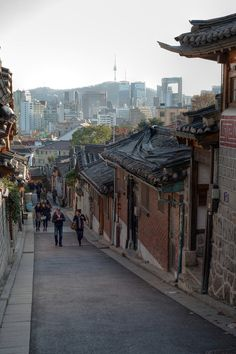 Bukchon Hanok Village (South Korea). 'In a city at the cutting edge of 21st-century technology, where apartment living is the norm, this neighbourhood stands as a testament to an age of craftsmanship when Seoulites lived in one-storey wooden hanok, complete with graceful tiled roofs and internal courtyard gardens.'