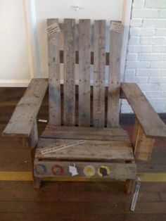 Adirondack Chair made from a pallet
