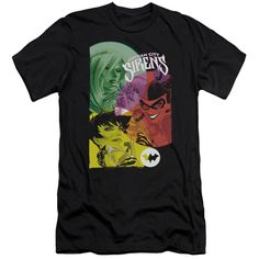 BATMAN/GOTHAM SIRENS - S/S ADULT 30/1 - BLACK -