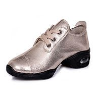 Modern Women's Dance Shoes Sneakers Breathable Synthetic Low Heel Black/Gold/Silver – CAD $ 76.99