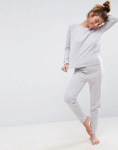 ASOS LOUNGE Sweat & Jogger Set - Gray