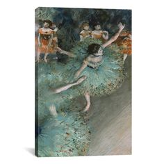 Edgar Degas 'Green Dancers' Canvas Wall Art | Overstock.com Shopping - Top Rated Prints
