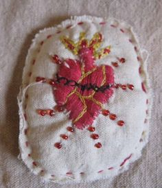 .scared heart embroidery
