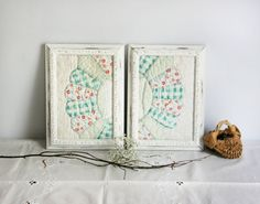 Framed Antique Cutter Quilt Piece wall decor by TheHeirloomShoppe, $48.00