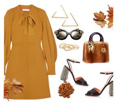 """""""Untitled #1320"""" by sarabutterfly ❤ liked on Polyvore featuring See by Chloé, Rochas and Hermès"""