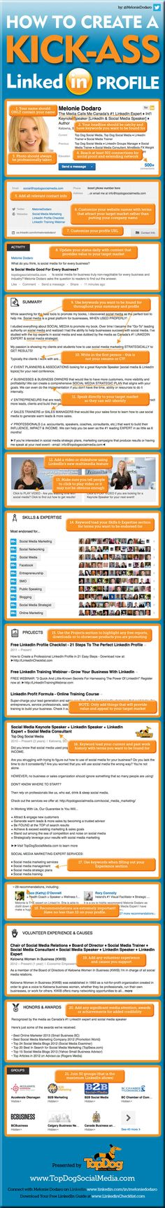Linkedin Profile Makeover Infographic
