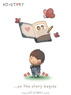 Love Facts : Picture Description Check out the comic HJ-Story :: Love is like a magical story Hj Story, Love Cartoon Couple, Love Couple, Chibi Couple, Couple Things, Cute Love Cartoons, Cute Cartoon, Cute Love Stories, Love Story