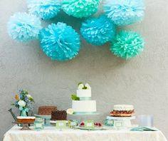 Pom pom decorations are essential!