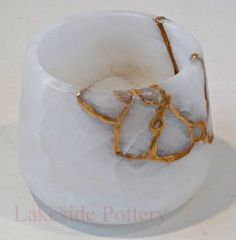Kintsukuroi Pottery | Kintsugi Art Gift : Repairing Broken Ceramic With Gold Effect