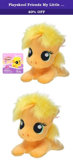Playskool Friends My Little Pony Applejack 6-Inch Plush. Every day can bring smiles with adorable friends your little one can snuggle and play with! This sweet, soft, and age-appropriate Applejack plush is sure to delight your little one. Fun ribbon textures in the pony's hair make for extra-colorful fun. With a mini 6-inch scale, she's a great companion to bring on the go! Playskool Friends, My Little Pony, and all related properties are trademarks of Hasbro.