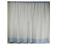 Cortina decoração quarto azul 200x1,40M