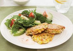 Corn Fritters with Feta & Bacon