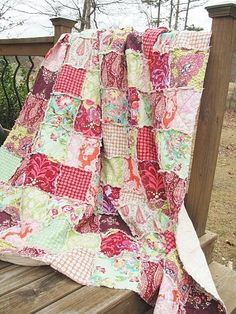 ... rag quilt pink quilts love in heart red wine orange twin size twin