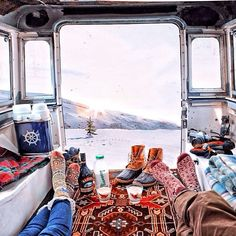 oh to revamp an old vw van as an adventure-mobile for occasions just like this!