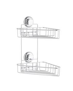 Met het dubbele hoekrek van Bestlock krijg je dubbel zo veel ruimte! Dit handige rekje biedt genoeg ruimte aan al jouw favoriete douchespullen. En door het handige zuignapsysteem hang je hem heel eenvoudig op!