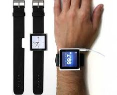 Rock Band turns your iPod Nano into a revolutionary new watch. The leather strap has a special notch to accommodate the iPod Nano's built-in clip. High Tech Gadgets, Gadgets And Gizmos, Cool Gadgets, Wearable Technology, Technology Gadgets, Ipod Nano Watch, Ipod Touch, Gadget Magazine, Tech Toys