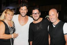 Photo 7 of 11 | Jujamcyn Theaters head Jordan Roth and Maks' brother Val Chmerkovskiy (who placed second in this year's DWTS, partnered with Zendaya) congratulate Karina and Maks. | Karina Smirnoff, Maksim Chmerkovskiy & Gilberto Santa Rosa Enjoy a Fab First Night in Forever Tango | Broadway.com