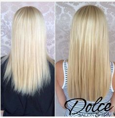 Blonde Bombshell over here with our HairDreams Extensions!  Autumn from our Lincoln location gave this beauty a fuller & more natural hairstyle!!!