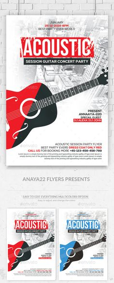 Acoustic Jam Session Flyer Template PSD #design Download: http://graphicriver.net/item/acoustic-jam-session-flyer-/13608918?ref=ksioks