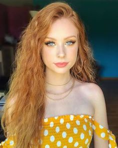 """🍊 Soft look 🍋 - Eyes: x palette """"Creamsicle"""", """"Obsessed"""", & """"Sissy"""" Lashes: """"Jules"""" (Code """"firemac"""" can save you Lips: Liquid Lipstick """"Dolce"""" Highlight: """"Holographic Lights"""" Hair: - # Gorgeous Redhead, Beautiful Lips, Red Hair Model, Ginger Models, Redhead Makeup, I Love Redheads, Girls With Red Hair, Hair Girls, Girls Eyes"""