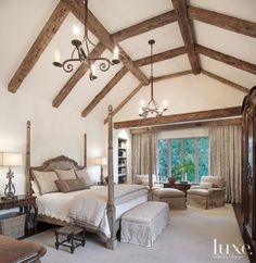 Traditional Louisiana Master Bedroom