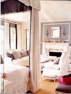 Mary McDonald Dior Salon inspired bedroom  Benjamin Moore Gull Wing Gray