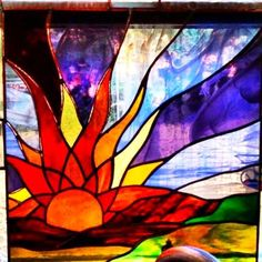 Stained Glass Sunset Flowers Of The Church Stained Glass Heritage With Stained Glass Sunset Sunset Glass Artist Gallery Entry Showcase Your Art Glass Projects Stained Glass Sunset Stained Glass Sunset Stained Glass Designs, Stained Glass Panels, Stained Glass Projects, Stained Glass Patterns, Stained Glass Art, Mosaic Art, Mosaic Glass, Stained Glass Fireplace Screen, Sun Art