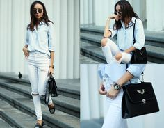 Get this look: http://lb.nu/look/6637060  More looks by Beatrice Gutu: http://lb.nu/thefashioncuisine  Items in this look:  Shirt, Jeans, Bag, Shoes   #casual #chic #minimal