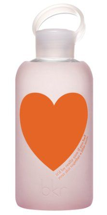 Bubble heartbkr® bottle : bubbly glass water bottle + soft silicone sleeve