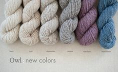 Six new Owl colors for Spring: buru, tyto, abyssinian, cement, amethyst, barents sea