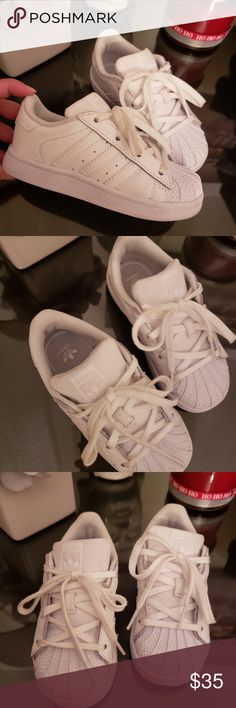 sale retailer e1369 130a4 Adidas all star toddler shoes Like new, adidas all star toddler shoes all  white size