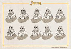 OSOKARO: JUSTIN AND THE KNIGHTS OF VALOUR VIII: HERACLIO CHARACTER DESIGN
